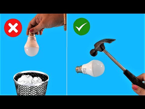 5 Awesome Use Of Waste LED Bulbs !!!