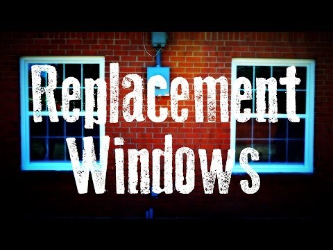 Removing Old Wood Windows & Installing Vinyl Replacement Win
