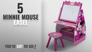 Top 10 Minnie Mouse Easel [2018]: Delta Children Activity Center with Easel Desk, Stool and Toy