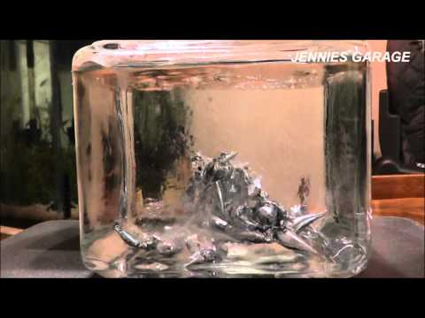 Pouring Hot Molten Metal Into Cold Water - HD & Slow Motion !!