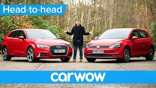 Audi A3 vs Volkswagen Golf 2018 review - which should you buy? | Head-to-Head