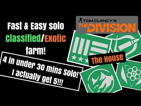 The Division - Fastest solo farm for Classifieds/Exotics!!!
