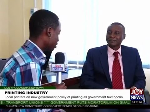Printing Industry - The Market Place on Joy News (6-4-17)