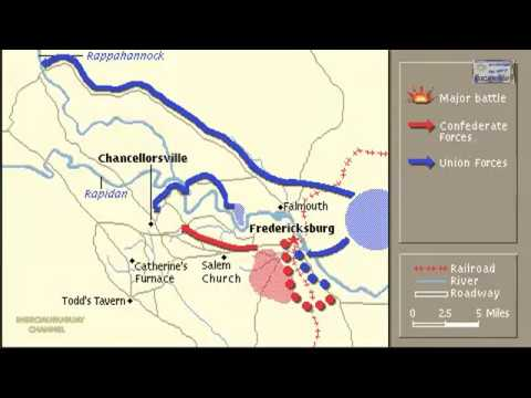 BATTLE OF CHANCELLORSVILLE ANIMATION ON A MAP - YouTube on