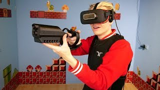 Playing Robo Recall VR with a Haptic Suit & 3D Printed Oculus Rift Gun Controller