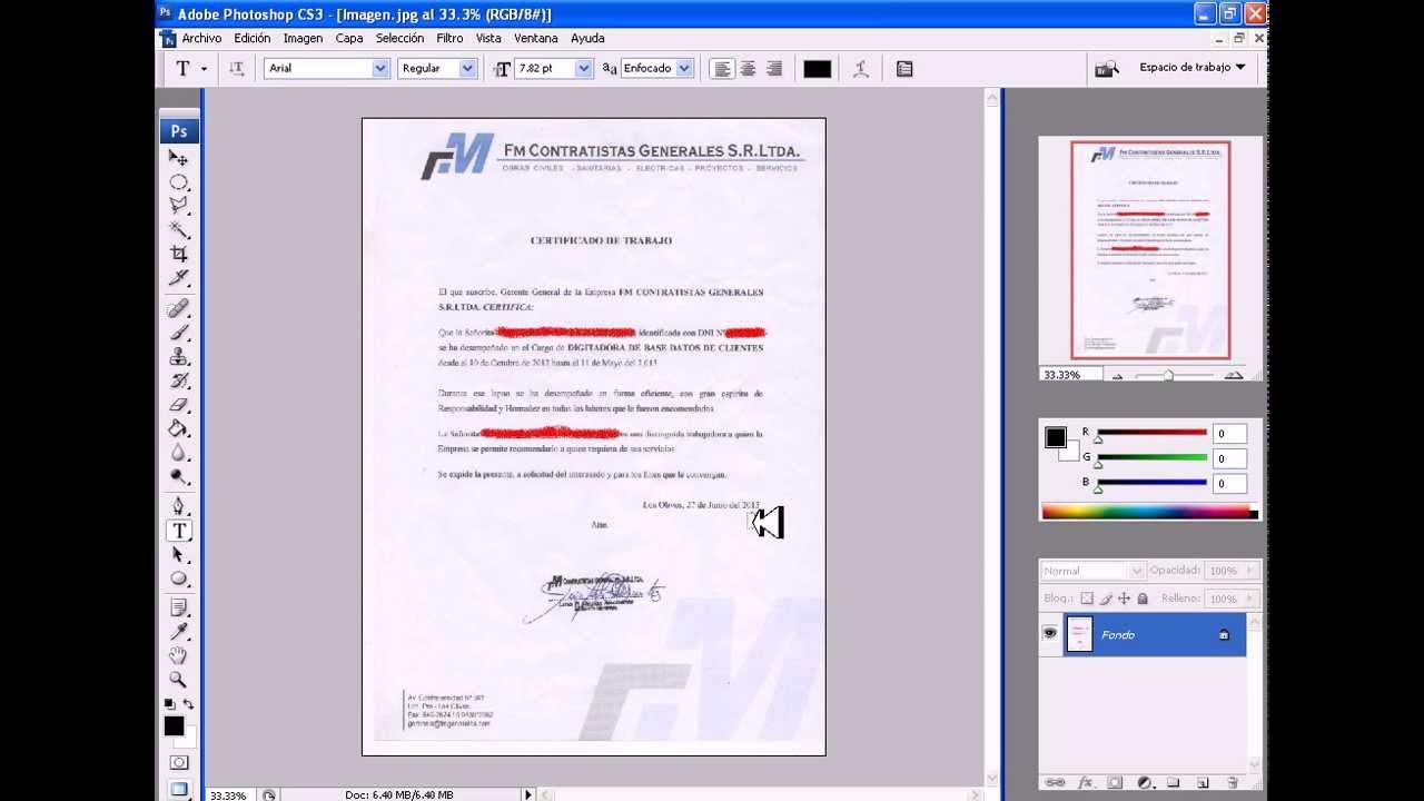 Modificar un certificado de Trabajo - gatocuriosohoy - YouTube