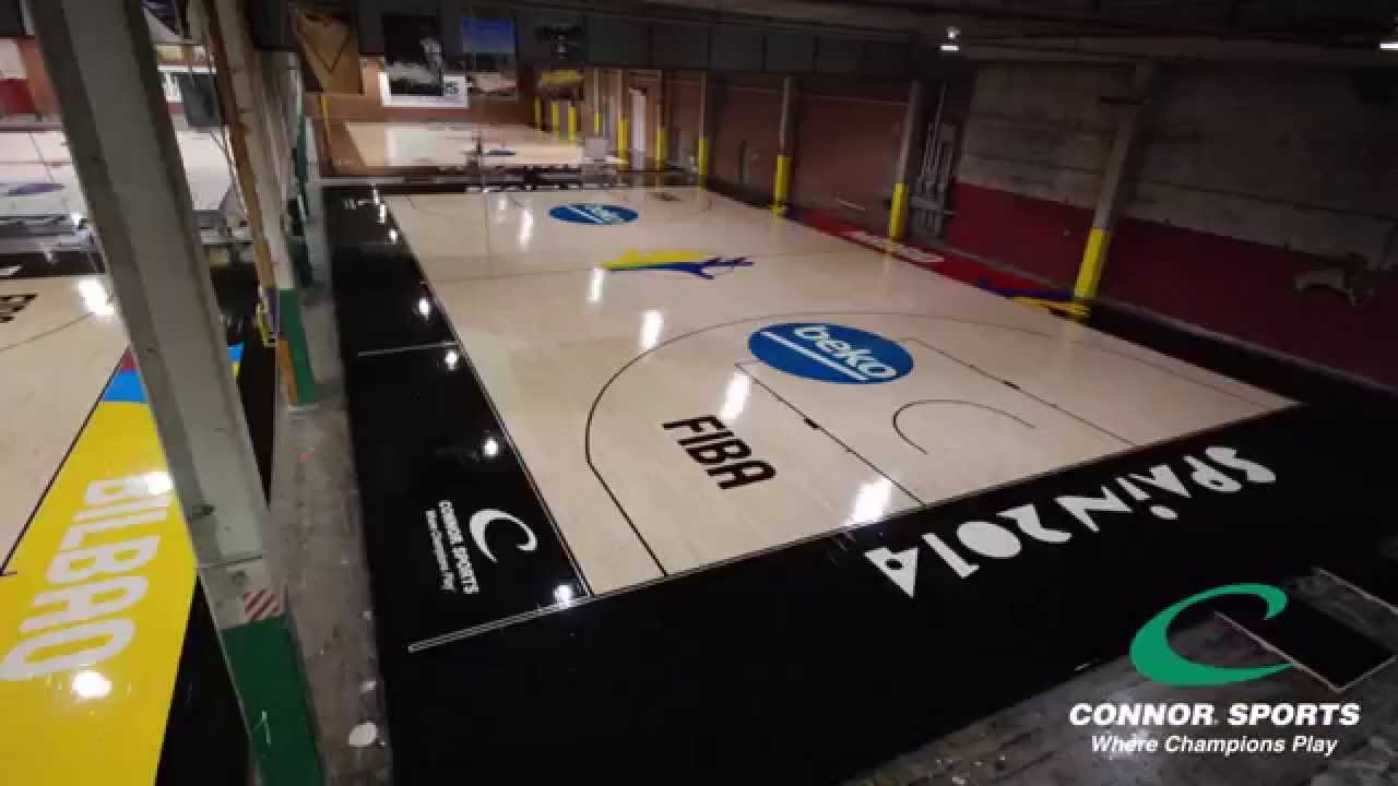 2014 fiba basketball world cup making of the courts by for Making a basketball court