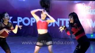 Girls from India dance Korean Pop : 5 feet at K-Pop 2015