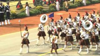 Girls National Cadet Corps Band participating at Republic Day in New Delhi, India