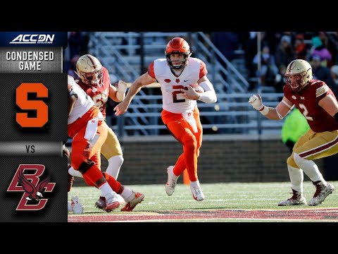 Syracuse vs. Boston College Condensed Game | 2018 ACC Football