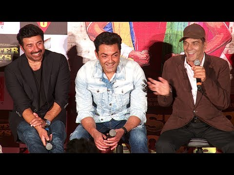 Poster Boys Movie Trailer Launch Full Video HD - Dharmendra,Sunny Deol,Bobby Deol,Shreyas Talpade