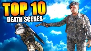 "Top 10 ""DEATH SCENES"" in COD HISTORY (Top Ten) Call of Duty"