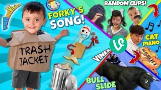 FORKY'S TRASH JACKET SONG 🎵 FUNnel VINES? (FV Family Random Clips)