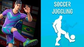 NEW SOCCER EMOTES LEAKED! Soccer Juggling, Red Card & MORE! (FORTNITE LEAKED EMOTES GAMEPLAY)