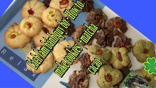 Vlog MaiK Sophie- Cách làm bánh quy bơ(thêm matcha cacao) - How to make cookies 🍪