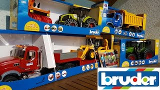BRUDER toys NEWS Tractor Fendt, Claas, Truck Mack and Dump truck Mack