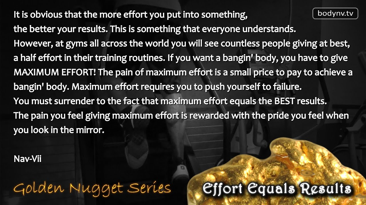 Quotes Effort Effort Equals Results  Motivational Quotes  Fitness Advice