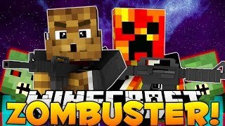 Minecraft Saving PrestonPlayz From Zombies (ZomBuster)