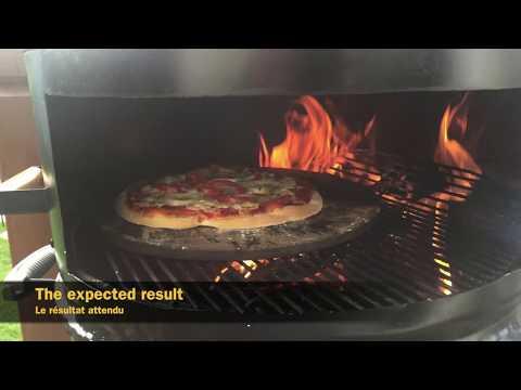 DIY - Weber kettle grill pizza oven with a drum
