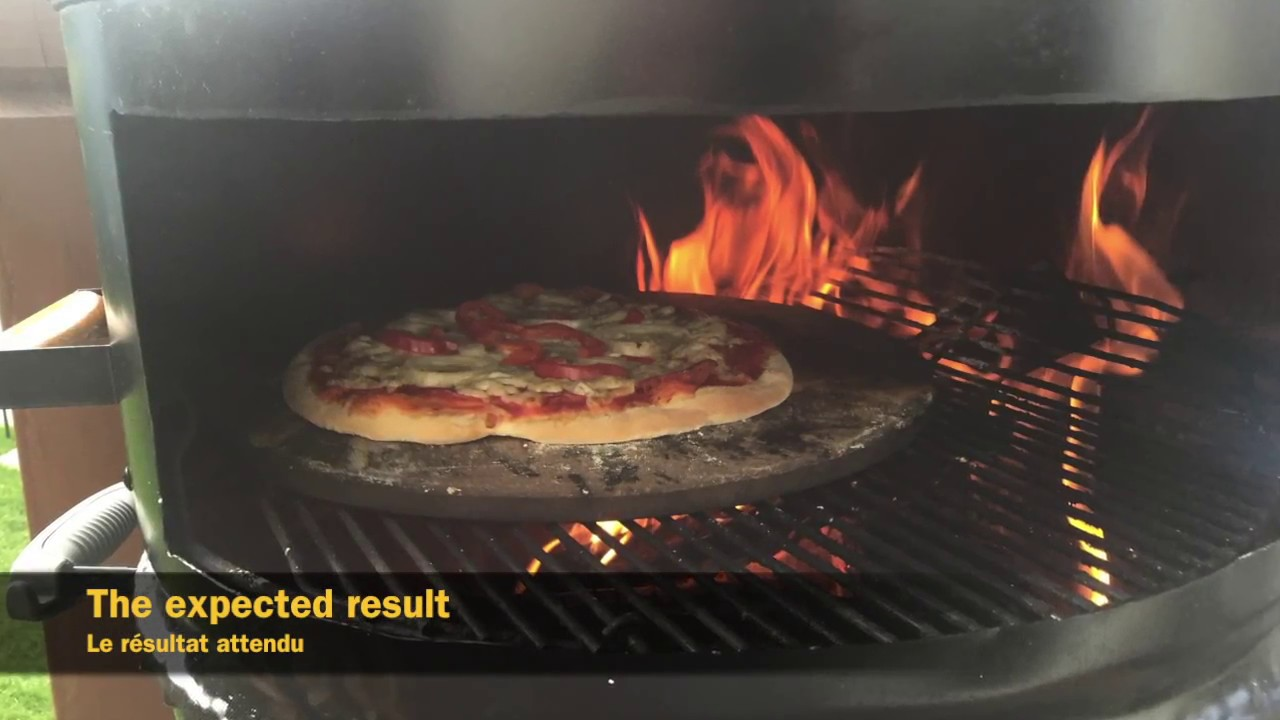 Diy Weber Kettle Grill Pizza Oven With A Drum Youtube