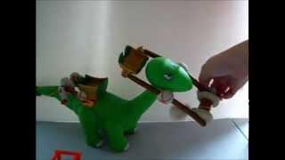 Little Tikes B.c. Builders I-fell Tower Playset Dinosaur Caveman Apatasaurus Toy