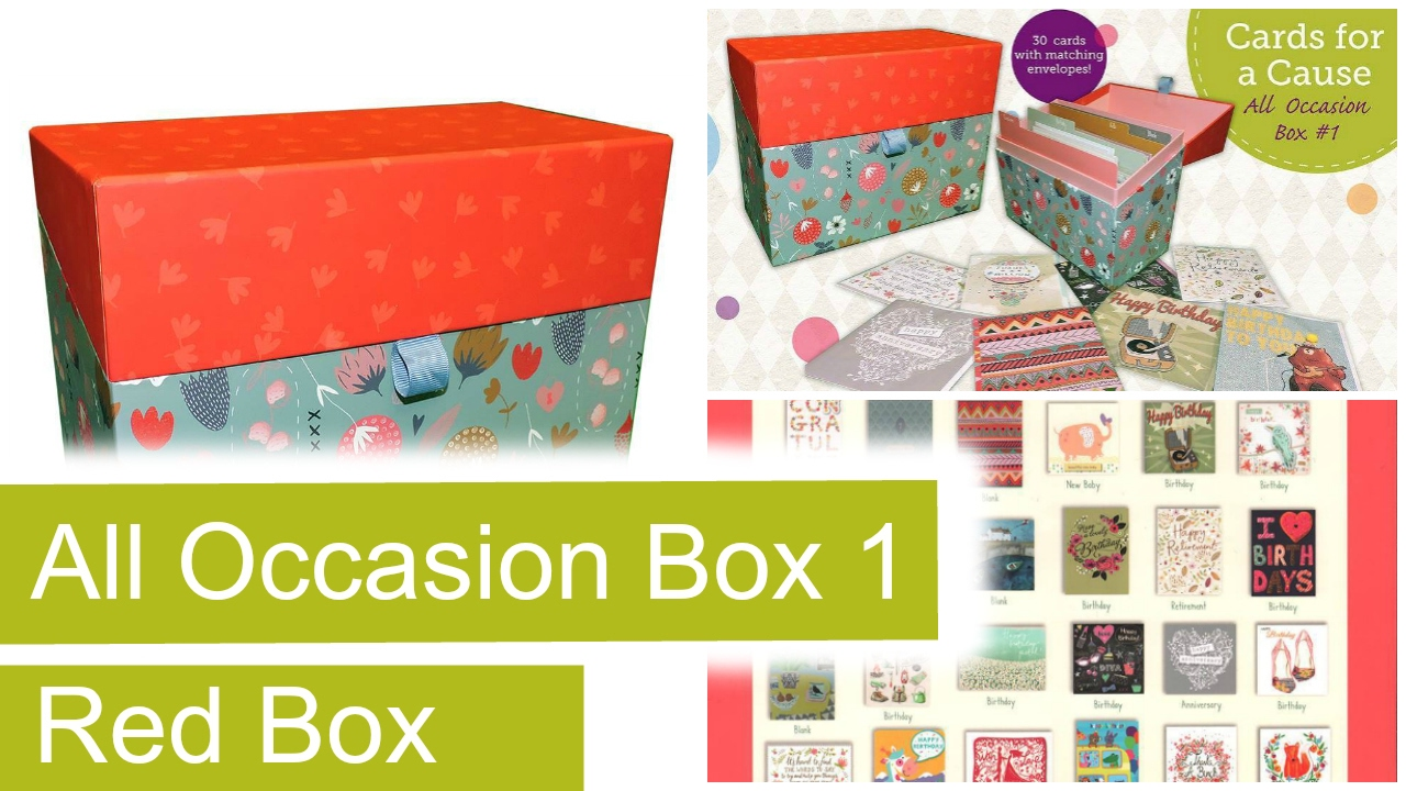 All Occasion Box 1 Cards for a Cause Fundraiser (Red Box)