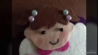 Keçeden Saç Bandı Ve Kitap Ayracı İçin Bebek Yapımı / DIY / Felt Baby