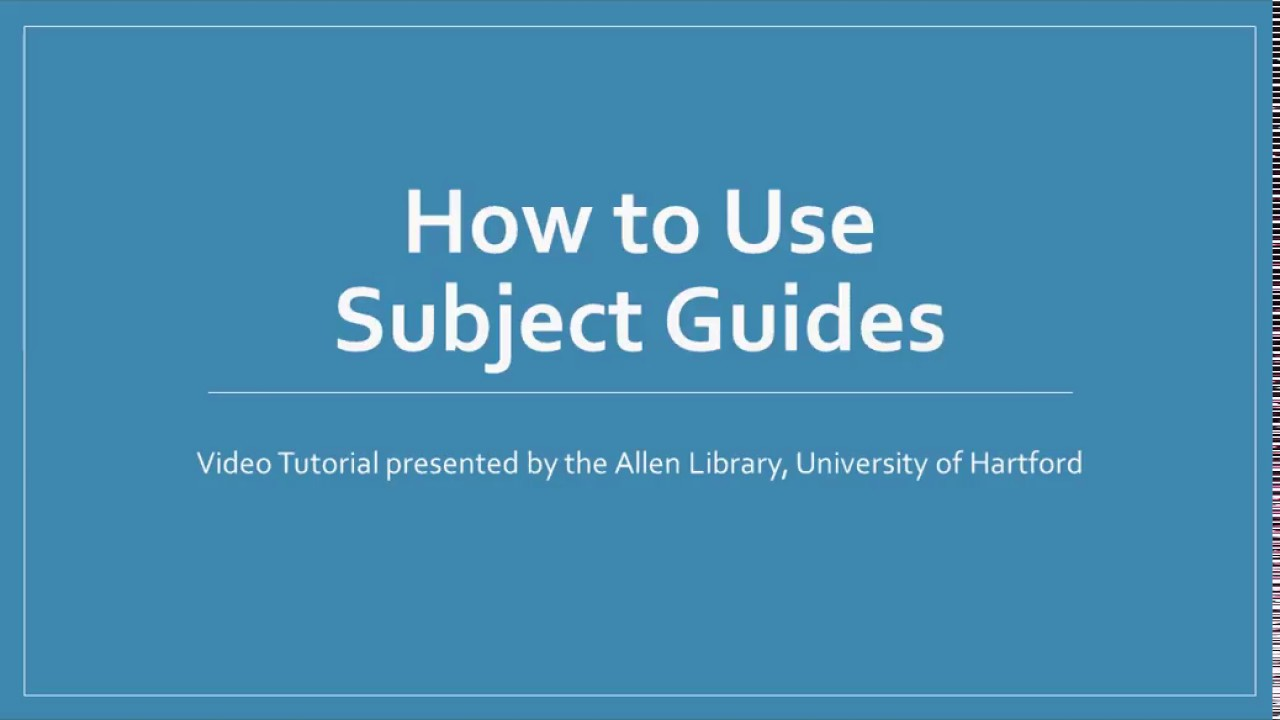 Download How to Use Subject Guides