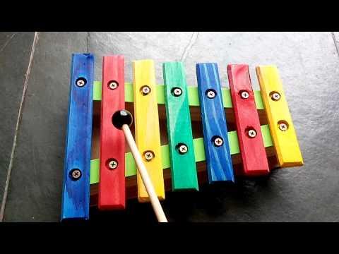 Xilofone em madeira