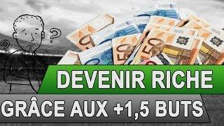 PARIS SPORTIFS : DEVENIR RICHE GRÂCE AUX +1,5 BUTS
