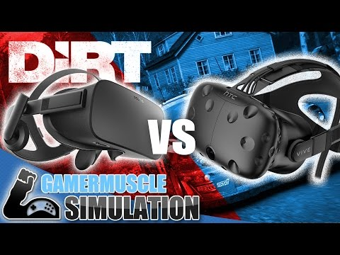 Dirt Rally VR - Oculus Rift VS HTC VIVE - Talk About The Two Headsets With DIRT