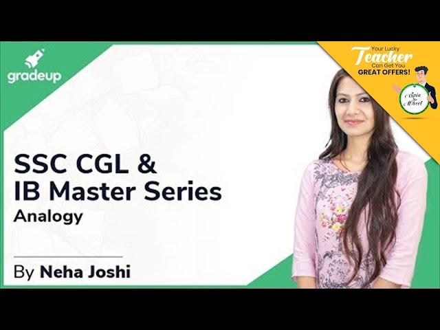 SSC CGL & IB Master Series || Neha Joshi Mam || Reasoning || Analogy || Class 2