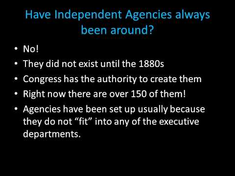 Day 27 Independent Agencies Narrated