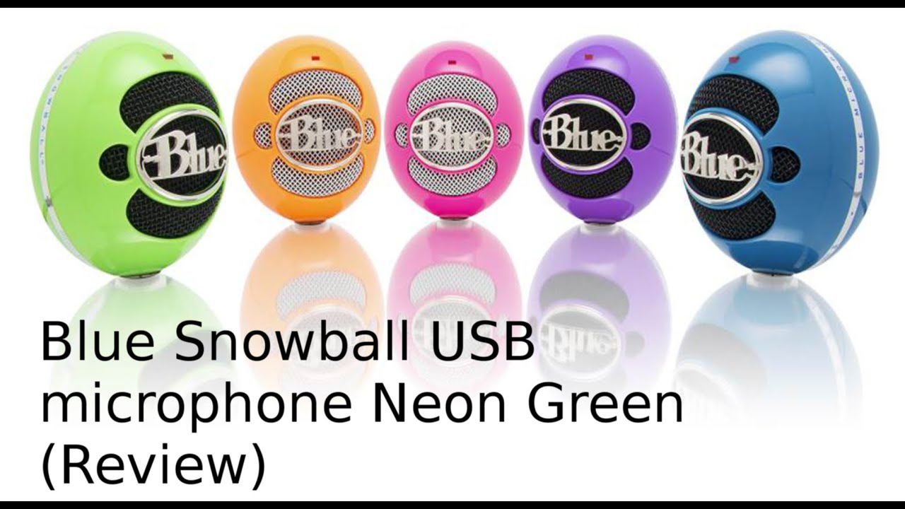 Blue Snowball USB microphone Neon Green (Review)