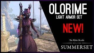 Vestment of Olorime Light Armor Set - PTS Summerset Chapter, Elder Scrolls Online ESO