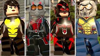 Evolution of Wasp in LEGO Marvel Videogames