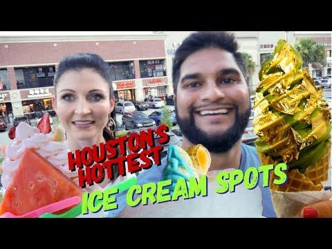 24 KARAT GOLD ICE CREAM: Houston's Hottest Ice Cream Spots
