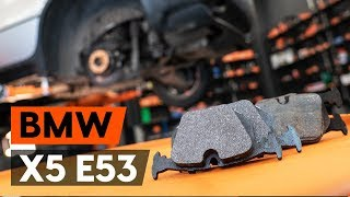 Kaip pakeisti galiniai stabdžių kaladėlės BMW X5 (E53) [PAMOKA AUTODOC]