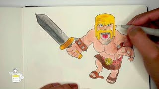 Let's Draw Barbarian from Clash of Clans