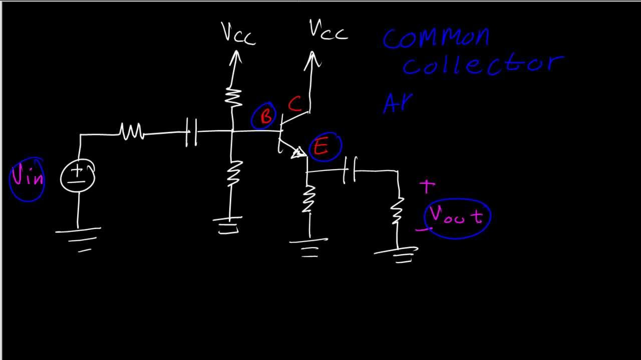 common base configuration circuit diagram led 110v wiring bjt amplifiers emitter or collector follower identification youtube