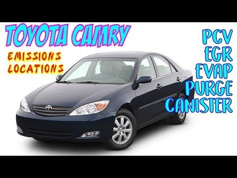 Toyota Camry PCV, EGR, EVAP Purge & Canister