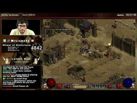 Diablo 2 - Casual Day! Run Barb Leveling + MF Sorc