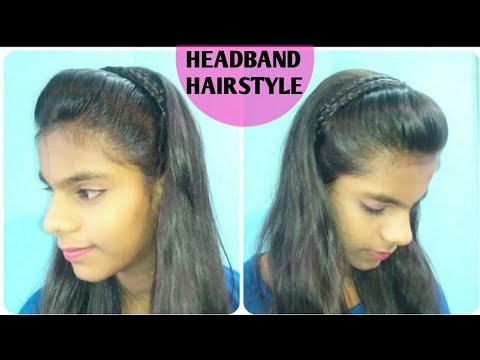 How To Make Braided Headband Hairstyle For Girls At Home Easy Simple Everyday Hairstyle