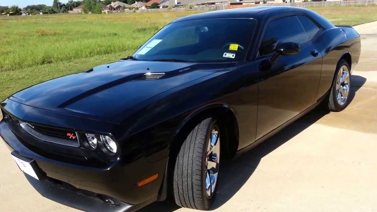 29 991 for sale 2013 dodge challenger r t hemi black with red youtube. Black Bedroom Furniture Sets. Home Design Ideas