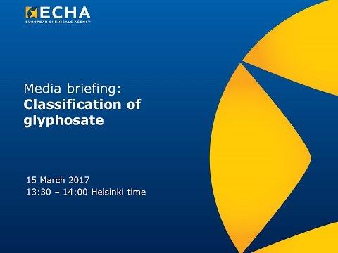 Media briefing: glyphosate not classified as a carcinogen