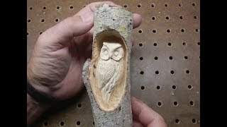 Carving a small Owl with Foredom and Dremel