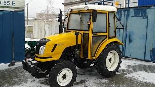 Купить Трактор DongFeng-404С (ДонгФенг-404К) с кабиной желтый minitrak.com.ua (кратко)