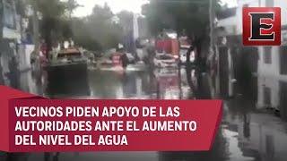 Lluvias en la CDMX: Decenas de casas inundadas en la Venustiano Carranza