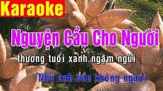 Karaoke | Nguyện Cầu Cho Người - St. Lam Phương | Beat Chuẩn