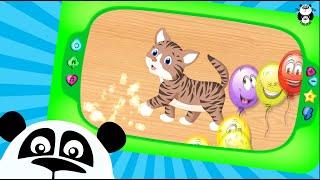 Пазлы для малышей - Веселые животные: кошки, собаки! Puzzles for kids!